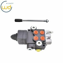 21gpm 2 Spool Hydraulic Directional Control Valve For Tractor Loader W/joystick
