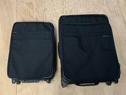 Briggs And Riley Black 2-piece Rolling Expandable Luggage/suitcase Set - 24 And 20