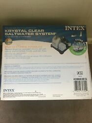 Intex Krystal Clear Saltwater System For Above Ground Pools 54601eg New Open Box