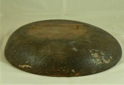 Millinery Hat Block Form Solid Wooden Brim Block Nearly Circular