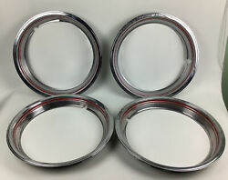 """Ford 16.25"""" Red Line Beauty Trim Ring Set Of 4"""