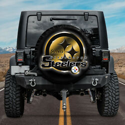 Pittsburgh Steelers Spare Tire Cover Nqt02 For Football Fans Nfl Car Decor