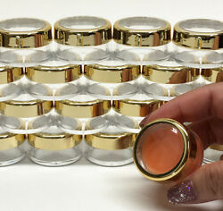 Cosmetic Jars Empty Beauty Makeup Containers Gold Acrylic Top 10 Gram 1000 .3012