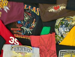 Lot Of 5 Random Menand039s Graphic Tees T-shirts All Size Large