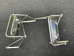 80andrsquos 90andrsquos Ford Big Truck F600 F700 F800 Sideview Tow Mirrors With Brackets Oem