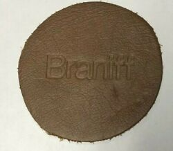 Vintage Braniff International Airlines 6 Suede Leather Coasters Rare