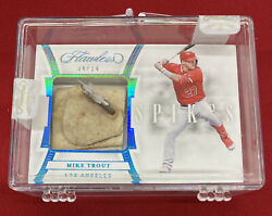 2020 Panini Flawless Mike Trout Game-used Spikes Cleats 4/14 S-mt Free Shipping