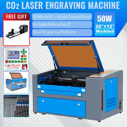 Mf-1220-50 - 50w 12x20 Workbed Co2 Laser Engraver Cutter With Rotary Axis B