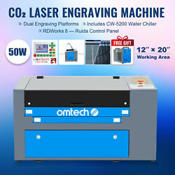 Mf-1220-50 - 50w 12x20 Co2 Laser Engraver Cutter With Cw-5200 Water Chiller