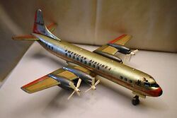 Vintage American Airlines Marx N6100a Battery-powered Tin Toy Airplane 1960s Old