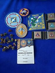 Cub Scout Lot Of Pins And Badges Tie Clips Some New