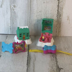 2 Polly Pocket 1995 Chalet Cottage And 2 Watches 1994 Mcdonald's Happy Meal Toys