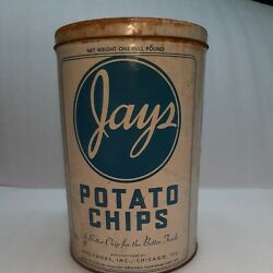 Vintage Jays Potato Chip National Can Chicago Il