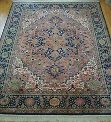 Authentic Karastan Herizz 700-728 Wool Usa Area Rug Excellent Cleaned 9 X 12