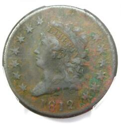 1812 Classic Liberty Head Large Cent 1c - Pcgs Vf Detail - Rare Date Coin
