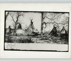 Camp Of Sioux Indian Chief Spotted Eagle Native Americans 1880s Press Photo