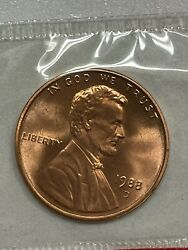 1988-d Lincoln Cent. In Pcgs Holder. Ms68 Red.  F572