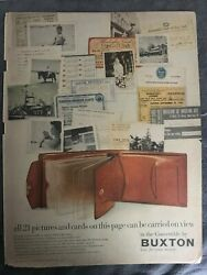 Buxton Wallets 21 Pictures Can Be Carried Convertible 1954 Vintage Print AD A93 $9.99