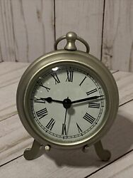 Pottery Barn Pocket Watch Clock Horloge- Large - Pewter Finish With Stand