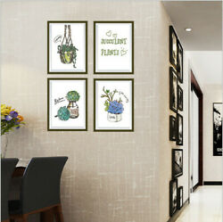 Removable Flowers Plants Vase Wall Sticker Mural Wallpaper Decal Home Decor DIY