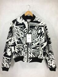 Celine Bomber Jacket Christian Marclay 19ss Printed Cotton Twi _14764