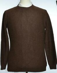 Kiton Mens Brown Thick Cashmere Knitted Knit Crewneck Sweater Size 48 S New