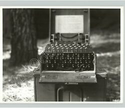 Captured German Cypher Device By Us Signal Corps Wwii 1944 Press Photo