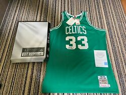 Larry Bird Uda Upper Deck Signed Autograph 1985-86 Mitchell And Ness Jersey W/box
