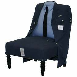 Brand New Rrp Andpound3659 Treniq The Royal Air Force Uniform Armchair Rare Unique Find
