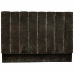 Pure Luxury Silk Velvey Upholstered Fluted King Size Headboard