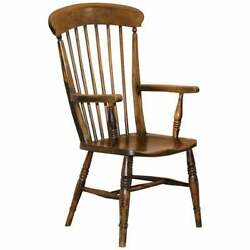 Original Paint 19th Century Thames Valley Oxford Windsor Armchair Stunning Wood