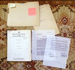 Steinbeck Of Mice And Men Original Radio Script Adaptation W/ Signed Letter 1949