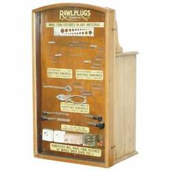 Very Rare 1950and039s Rawl Plug Sales Cabinet With Till Drawers And Display Section