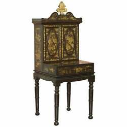 Sublime 19th Chinese Lacqurered Dressing Table Vanity Unit Writing Table Or Desk
