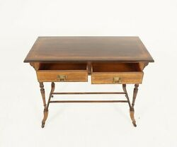 Antique Edwardian Inlaid Writing Table Rosewood Hall Table Scotland 1910b2368