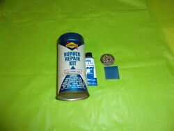 Vintage Original Sunoco Rubber Repair Kit Round Metal Can With Lid And Content