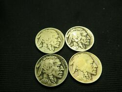 1913 Ty Ii, 1915 S, 1917 S, 1931 S Old Buffalo Nickels Us Coins