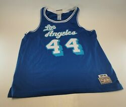 1961-62 Hardwood Classics Replica Jerry West No.44 Los Angeles Lakers Size Large
