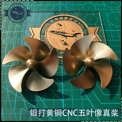 Cnc Brass 60 Mm 5-blade Propeller Rc Boat Prop Rc Gasoline Boat Clockwise 1pc