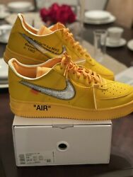 Nike Air Force 1 Low Off White University Gold Lemonade Size 14 Shipped Order