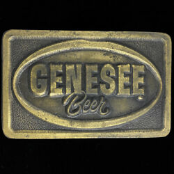 Genesee Beer Brewing Company Rochester New York Rare 1970s Vintage Belt Buckle