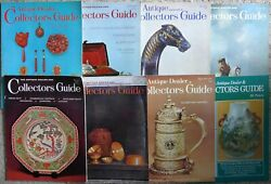 Lot Of 8 Antique Dealer And Collectors Guides And 1 Antique Collector Magazine