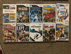Lot Of 10 Nintendo Wii Games- Tested Working Fun Family Variety Mixed Kids