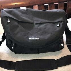 COLUMBIA Black Messenger Bag with Shoulder Strap Zipper and Insulated Pockets $24.99