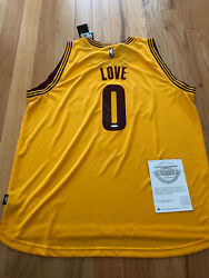 Kevin Love Uda Upper Deck Signed Autograph Cleveland Cavaliers Gold Jersey Coa