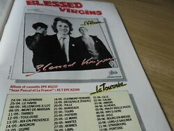 Blessed Virgins Full Page Magazine Ad Lp Same + France Tour Dates