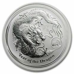 2012 Year Of Dragon With Lion Privy 1oz Silver Coin- Roll Of 20 Coins