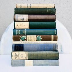 Lot Of 10 Old Vintage Antique Books Instant Library Staging Props Hc Book Decor