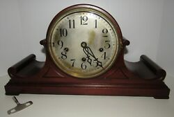 Antique Peerless Limited Quarter Hour Westminster Chime Clock W/5 Gongs Rare