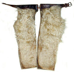 20 Off New Mexico Cowboy Ranch Worn Wooly Chaps And039stamped Beltand039 33 X 24